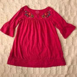 Carter's | pink cotton dress embroidered f…